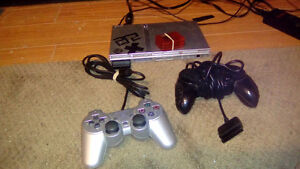 PS2 Slim Silver w/ games