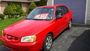 2000 Hyundai Accent Coupe (2 door)
