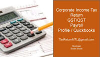 Corporate income tax return T2 & CO-17 | Personal T1 &TP-1