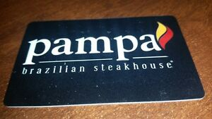 pampas steak house and Moxie cards