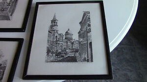 Black and White Framed Sketches - Montreal and Quebec Kitchener / Waterloo Kitchener Area image 5