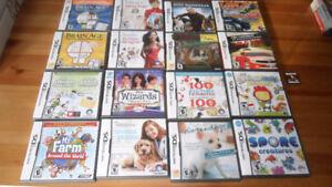 NINTENDO DS  20 GAMES – MARIO, DOGS, ATV RACING, SIMS. SPORE ETC