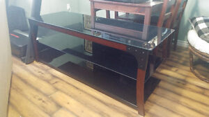 "60"" glass tv stand."