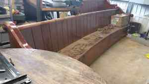Approx 10 feet solid wood church bench pew