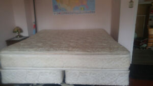King size mattress with frame  and other bedroom furniture