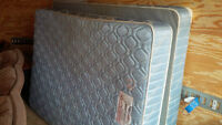 DOUBLE BED - MATTRESS, BOX SPRING & METAL FRAME - DELIVERY AVAIL