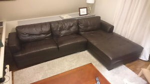 Black Couch with chaise