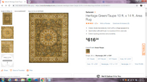 Designer Area Rugs - 90% savings