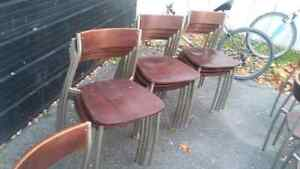 REDUCED!High Quality Wood and Metal Chairs 10$ each Kingston Kingston Area image 4