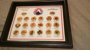 RARE Beautifully Framed NHL Hockey Pin Sets + Jays Bobblehead