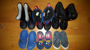 Size 10 Boy Shoes and Boots Lot - 6 Pairs for Only $25