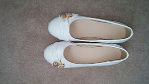 Brand new ! Flat white shoes