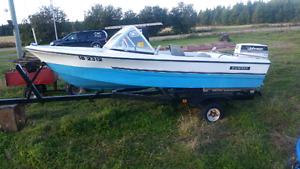 16 ft Speed boat, motor & trailer for Trade