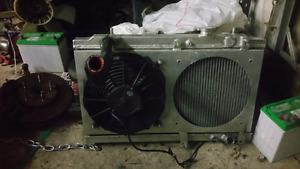 Civic / Integra K series swap radiator with shroud,fan and hoses