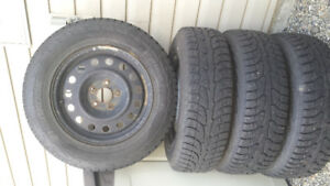 4 Hankook Winter Tires 80 % Tread