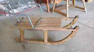 Antique wooden sled with handle Kitchener / Waterloo Kitchener Area image 2