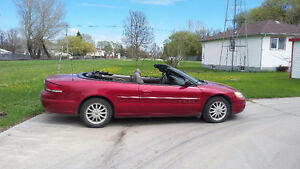SAFETIED $5999 OBO 2003 SEBRING LX1 CONVERTIBLE