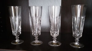 champagne crystal glasses 6pc