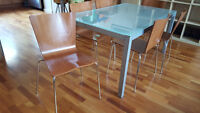 Glass dining Table & 6 chairs