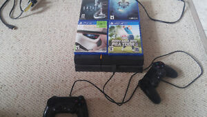 Ps4 playstation 4 with 7 games