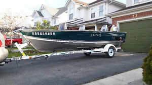 PERFECT HONDA motor with best fishing boat LUND REBEL