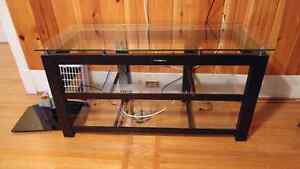 Glass / Metal TV Stand