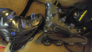 Womens size 9 roller blades and pads $15.00