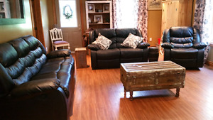 Reclining Sofa, love seat and chair