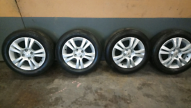 """VAUXHALL 15"""" ALLOYS WITH TYRES"""