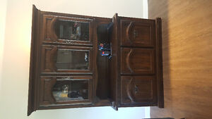Solid Wood Hutch & Buffet and Table