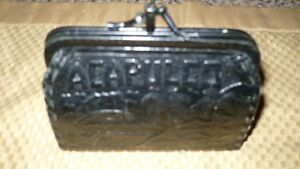 VINTAGE ADORABLE HAND MADE 1950'S BLACK LEATHER COIN PURSE Kitchener / Waterloo Kitchener Area image 2