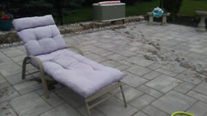 Lounger with fluffy cushion