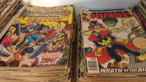 Marvel comics for sale, all titles..fair to good condition