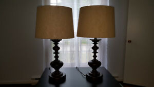 Like New 2 Table/ Bedside lamps