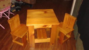 Kids table and kids mini couch