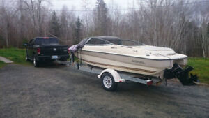 Beautiful Doral 185BR Bowrider and Trailer