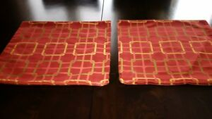 2 Custom Made Pilliow Covers