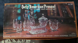 Vintage Early American Prescut 11 Piece Table Service Set