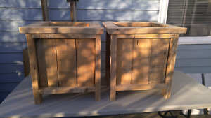 Planter boxes $40 each, Delivery extra