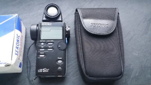 Sekonic L-508 Cine light meter with spot meter with papers, box