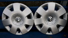 Pair of VW Hub caps