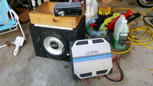 Amp sub and head unit