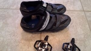 Shimano 'clipless' men's shoes and pedals