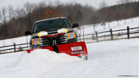 Snow plowing in the Barriere area