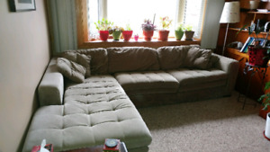 Large Couch with Lounge