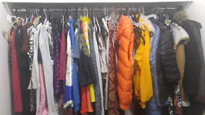 Multiple woman s clothing items