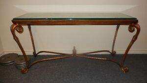 Bronze and Glass Console Table