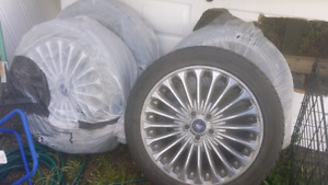 Ford fusion titanium rims and tires