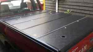 Folding tonneau cover for 1/4ton truck with keys
