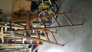 5 foot wooden step ladder